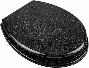 brand new glitter toilet seat cover metal hinges. Black Bedroom Furniture Sets. Home Design Ideas