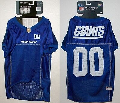 first rate 33bac a0a9a NFL New York Giants Football Dog Puppy Team Fan Gear Jersey Mesh Pet Shirt  - XL | eBay
