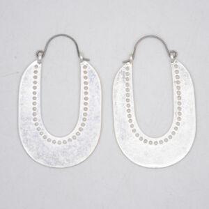 Lucky-Brand-jewelry-matte-silver-plated-slim-hoop-drop-dangle-earrings-for-women