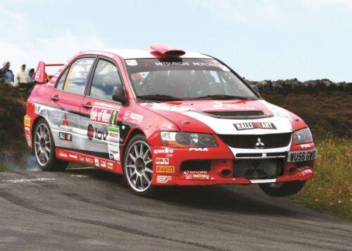 Wrc Rally Car Mitsubishi Evo Evolution Poster Amk1389 Ebay