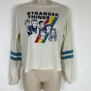 Stranger-Things-Netflix-Womens-Small-Long-Sleeve-Graphic-Tshirt
