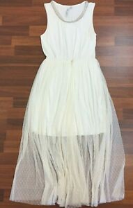 Forever-New-Womens-Ivory-Sleeveless-Lined-Dress-Size-12