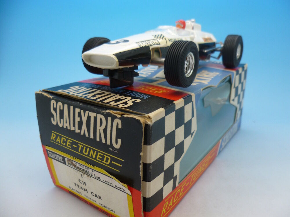 Scalextric C19 Team Car, mint boxed, loks like two laps