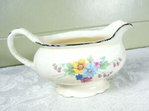 Vintage-Homer-Laughlin-Virginia-Rose-Small-Floral-Pitcher-Gravy-Dish-J51N8