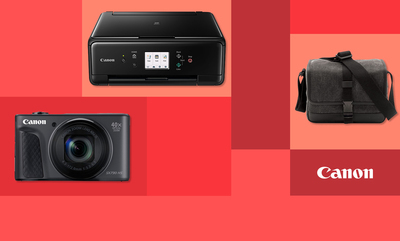 Save up to 50% on Canon