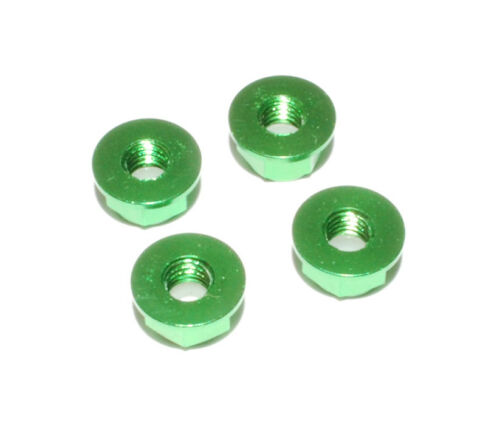 1//10 Rc Green Aluminium M4 Wheel Nuts For Losi Ten Baja Rey Rock rey Tenacity