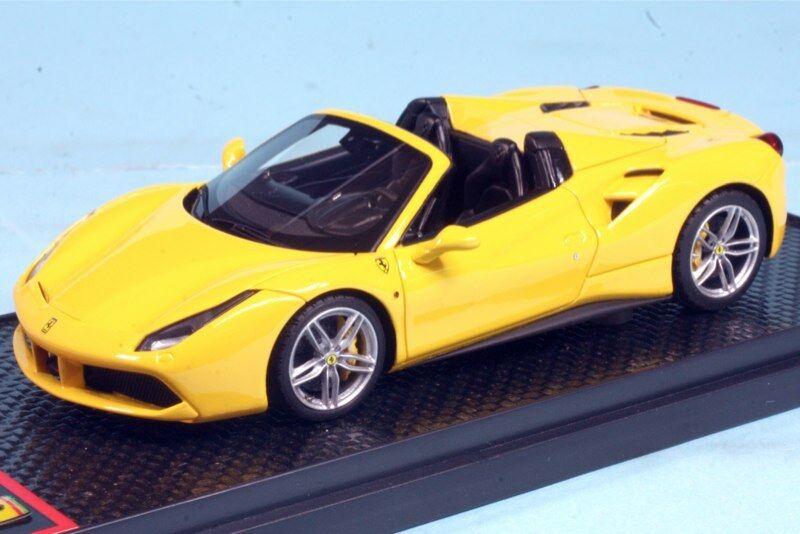 ventas calientes Ferrari 488 Spider 2018 giallo modena  lim.ed.99 lim.ed.99 lim.ed.99 pcs  BBRC173B  BBRMODELS  wholesape barato
