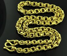 999.9 24K Solid Yellow Gold heavy Handmade Chain Necklace 75.00 grams 24 inches
