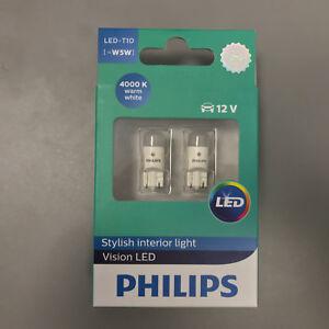 Philips-Original-Blanco-Calido-4000K-X-treme-Vision-360-BOMBILLAS-LED-COCHE-T10-501-W5W