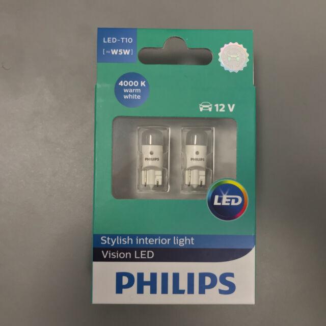 Philips Original Blanco Cálido 4000k X-Treme Vision 360Led T10 501 W5w