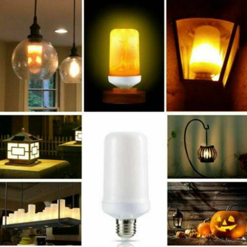 HOT 9W E27 LED Flicker Flame Light Bulb Simulated Burning Fire Effect Night Lamp