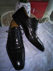 50d9beb2cb4 Details about Magnanni For Neiman Marcus Men's Black Leather Dress Shoes Sz  8.5 M
