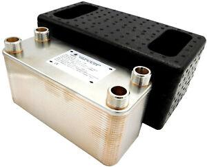 Inox Steel Plate Brazed Heat Exchanger NORDIC TEC 1' (25) Ba-32 Serie 125-450kW