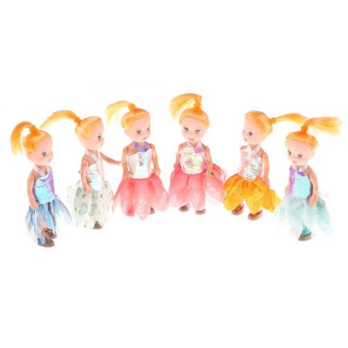 2pcs 10CM Kelly doll Kids Toys Soft Interactive Baby dolls Mini Doll For GirlP0C