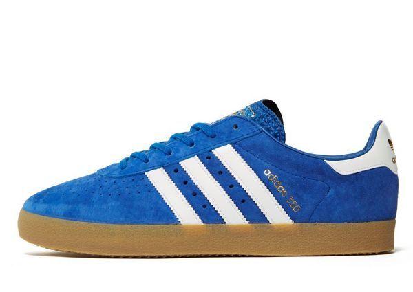 Adidas Originals 350 Blau Suede & Weiß Stripes (UK 11) New in Box