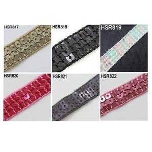 1-METRE-SEQUIN-TRIM-RIBBON-CRAFT-DRESSMAKING-COSTUME-SEWING-6-COLOURS-15mm