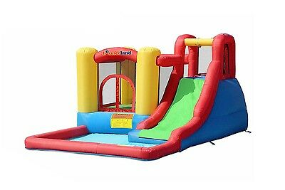 **Bounceland Inflatable Bounce House Jump & Splash Adventure Water Slide Bouncer