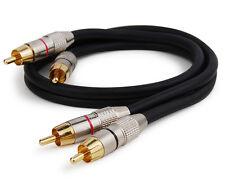 Dynavox Cinchkabel, 0,5 Meter, Cinch Kabel, HiFi, Stereo Audiokabel, Paar