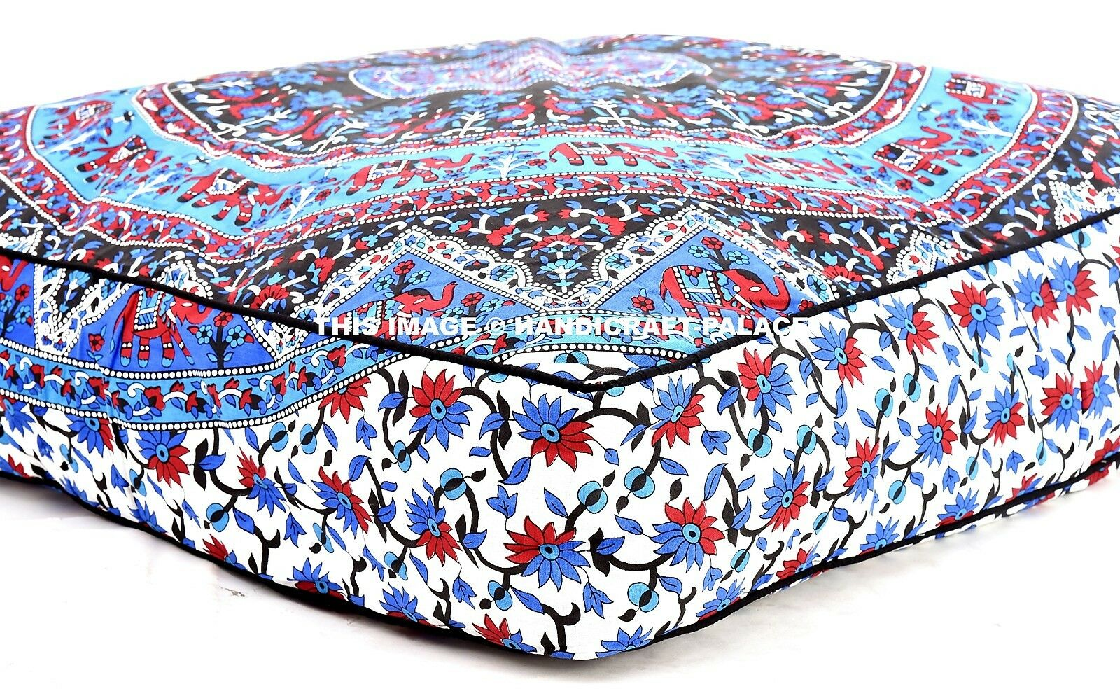 Indian Nest Mandala Cushion Mat Floor Pillow Soft Puppy Dog Cat Pets Bed 35 X35