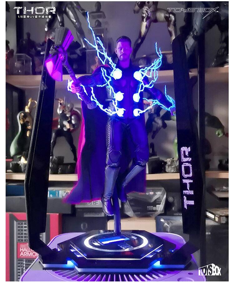 Giocattoli scatola 1 6 LED Thor UV UV UV Display Base Ste Platform TB077 The Avengers Scene eec9a9