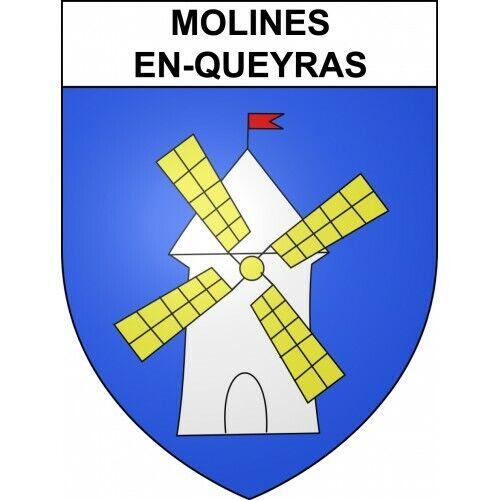 Molines-en-Queyras 05 ville sticker blason écusson autocollant adhésif
