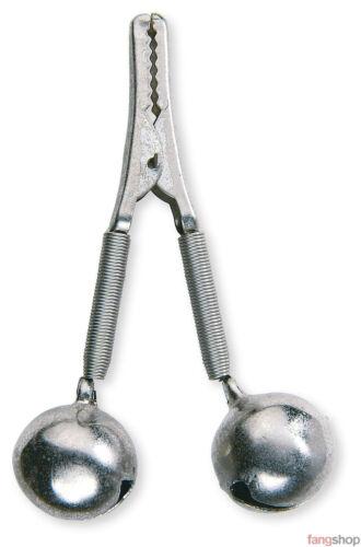 5x Lineaeffe AALGLOCKE Metall Krokoklammer Bissanzeiger Schraubhalter 1 o 2 Gloc