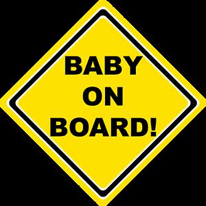 Bebé a bordo de signo original signo de seguridad de aspiración Amarillo Ventana de Coche
