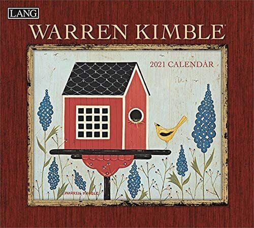 """LANG Warren Kimble 2021 Wall Calendar 12/""""X12/"""""""
