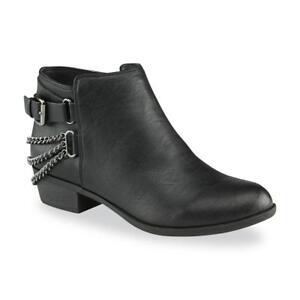 802c5974d4ca Joe Boxer Women s Black Elsey Chain Ankle Bootie Boots Shoes Size 7 ...