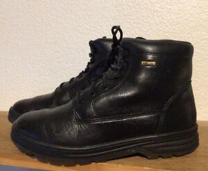 450-Men-s-MEPHISTO-Slacker-Gore-Tex-Sz-8-Black-Leather-Hiking-Boots-EUC-combat