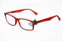 LESEBRILLE MR83B rot Unisex Lesehilfe BRILLE 1,0 1,5 2,0 2,5 3,0 3,5 NEU Optiker