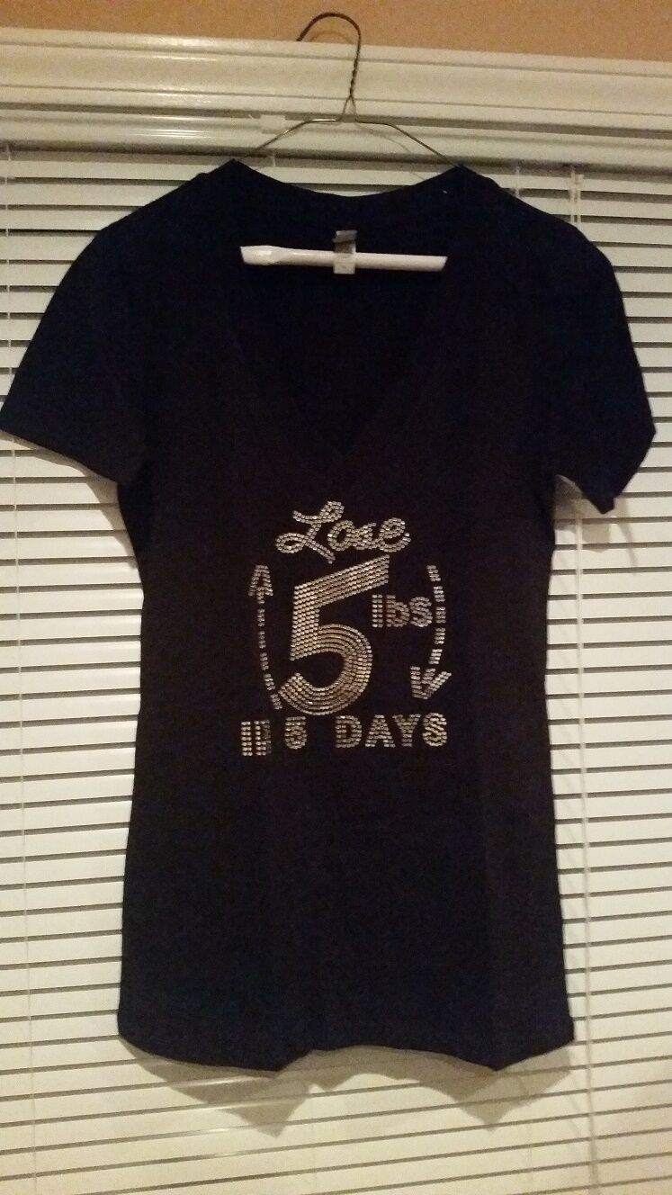 Lose 5 Lbs in 5 Days Bling T-Shirt