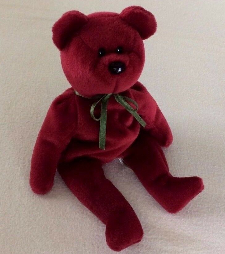 CRANBERRY TEDDY BEAR TY Beanie Baby ORIGINAL 1993 RETIRED Collectible RARE