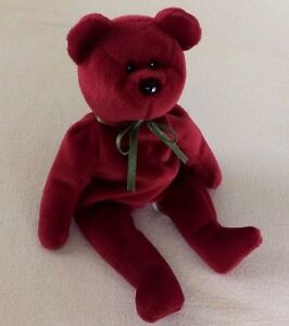 Image is loading CRANBERRY-TEDDY-BEAR-TY-Beanie-Baby-ORIGINAL-1993- e57b39688837