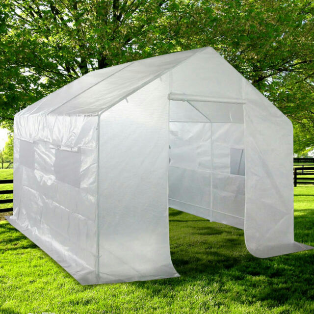 Quictent® Portable Greenhouse Large Green Garden Hot House Grow Tent 10u0027x9u0027x8 & Quictent Greenhouse Walk in /Mini Outdoor Garden Green Hot House ...