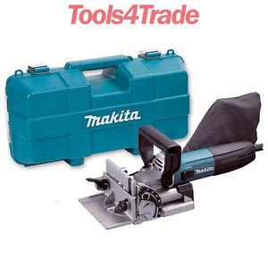 Makita Pj7000 Biscuit Jointer Kit 100mm Dowel Jointer 700w 110v