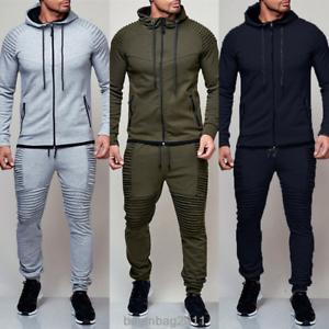 Men-039-s-Tracksuit-Jogging-Hoodie-Coat-Top-Trousers-Sport-Pants-Suit-Sportwear-AU