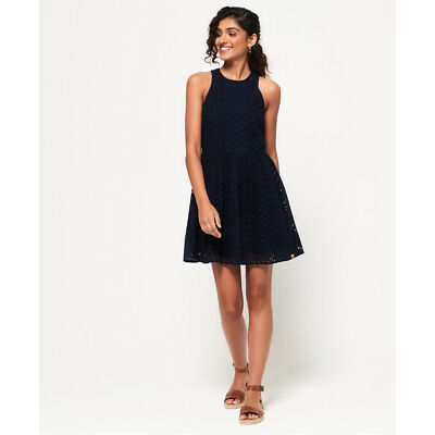 New Womens Superdry Camylla Racer Dress Navy