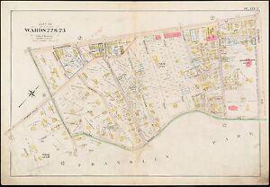 Jamaica Plain Boston Map.1896 W Roxbury Jamaica Plain Boston Ma George