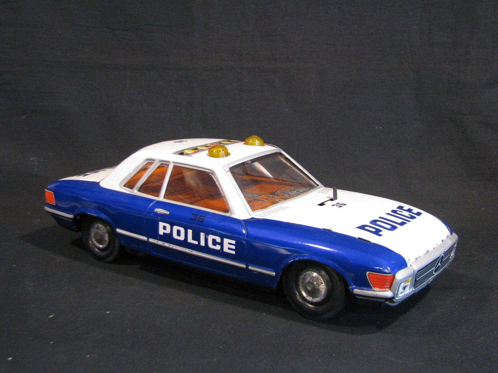 Paya Metal (Tin Plated) Mercedes-Benz Police Car 1 12 with Light and Sound (JS)