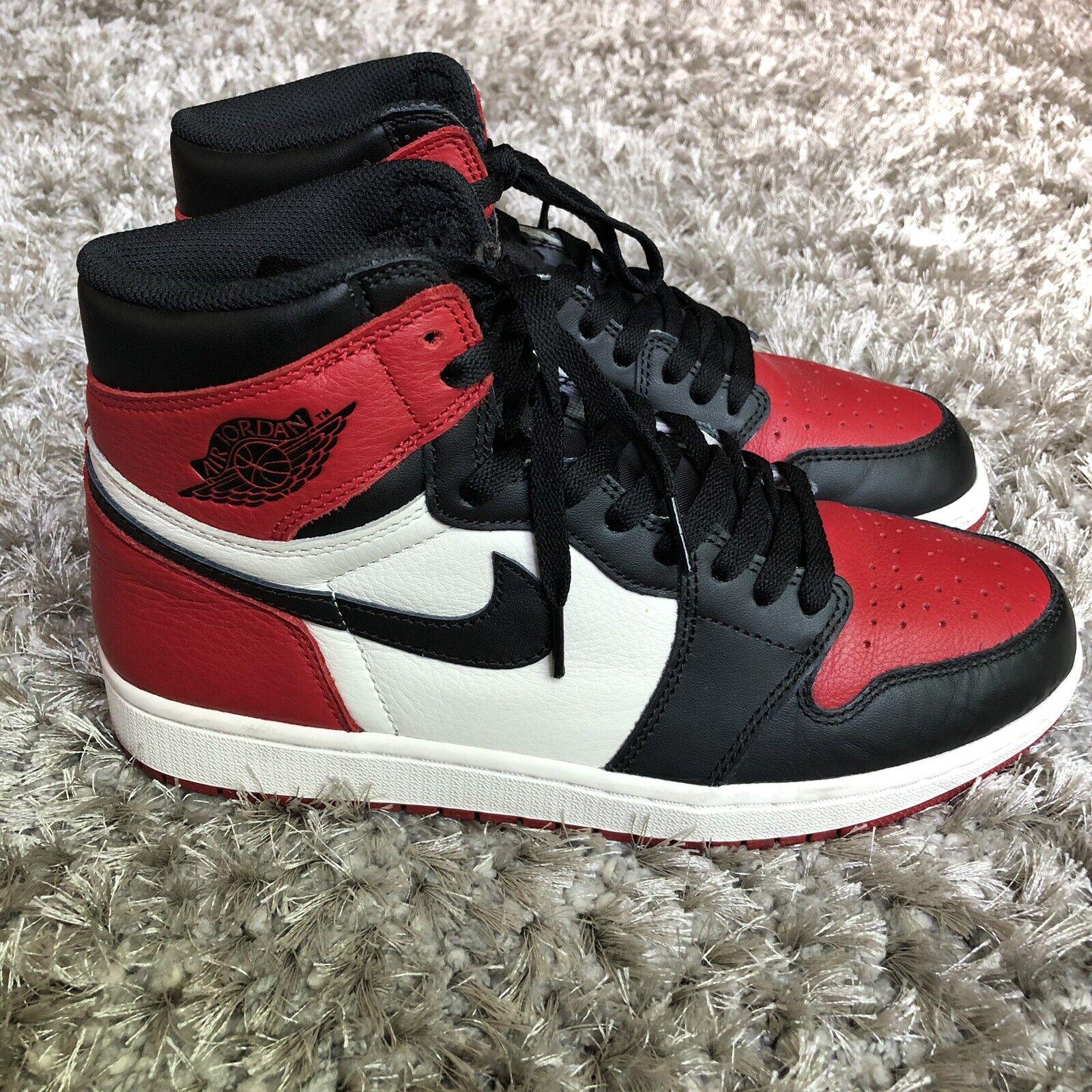 Nike Air Jordan 1 Retro Bred Toe Mens Size 9 Union Turbo Unc Off 555088 610 Rare