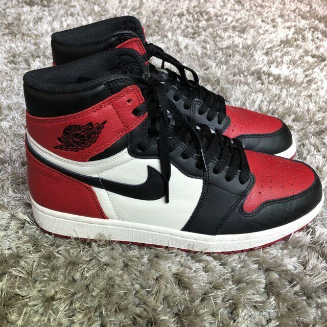 cf7b2e8f824 Nike Air Jordan 1 Retro Bred Toe Mens Size 9 Union Turbo Unc Off 555088 610