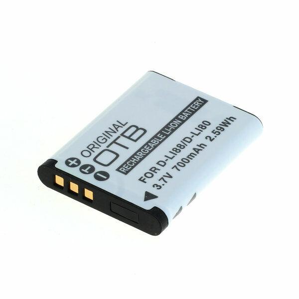 OTB Batterie Accu pour Pentax D-Li88 / Sanyo DB-L80