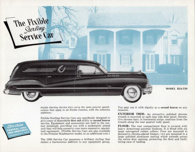 Print  1950 Flxible-buick Sterling Service Car Auto AD
