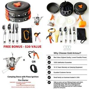 Camping-Cookware-Mess-Kit-Backpacking-Gear-Hiking-Outdoors-Bug-Out-Bag-Equipment