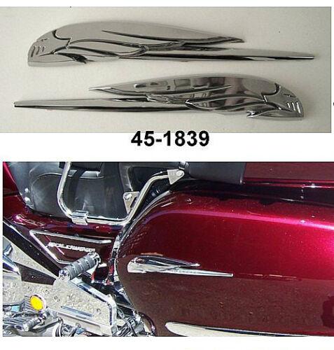 pair Honda Goldwing GL 1100 1200 1500 1800 CHROME EAGLE EMBLEMS