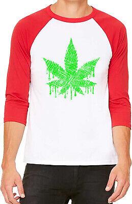 Men/'s Weed Leaf Flag Camo Raglan Sweatshirt Marijuana 420 USA Blunt 420 American