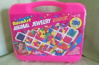 Brand In Case Vintage 1995 Roseart Animal Jewelry Making Craft Kit 6261a