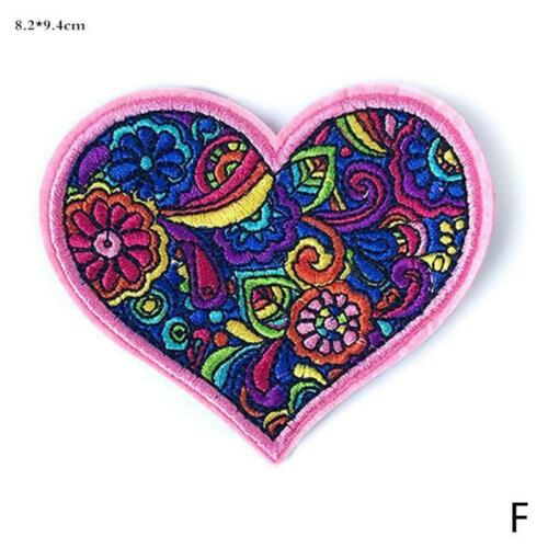 Hippie Love Bus Flowers peace Patch 60s Art Embroidered Iron Sew on Appliqu A2G1