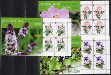 CROATIA 2004 Medicinal Plants booklets of 10 stamps  MNH / **.  Michel 687-89